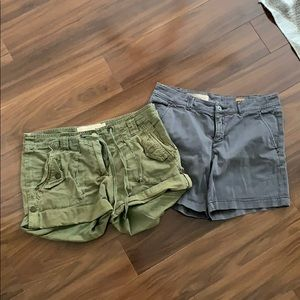 Jcrew and Pilco Anthro Shorts